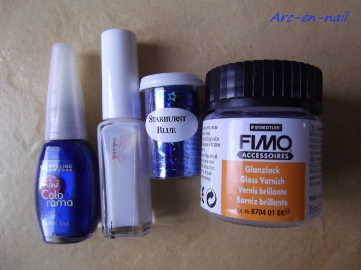 foil starburst blue materiel