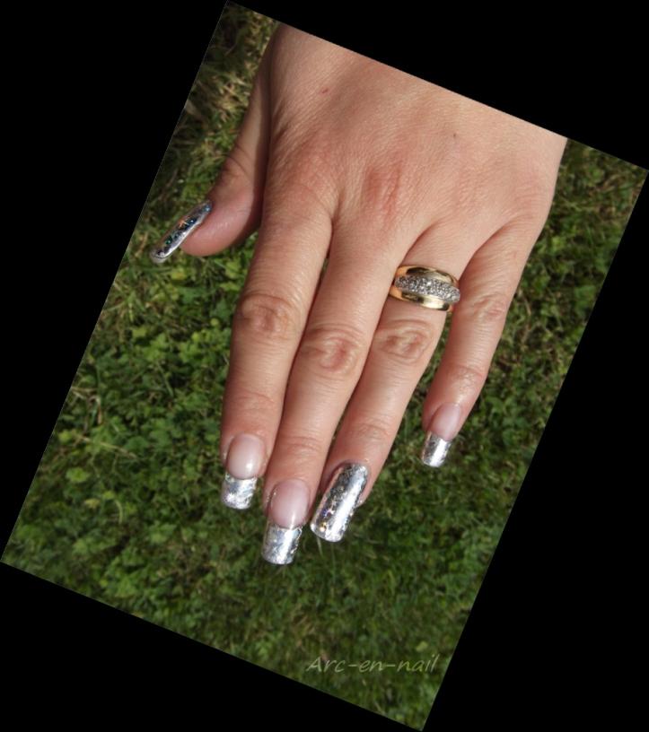 FOIL Silver starburst 2