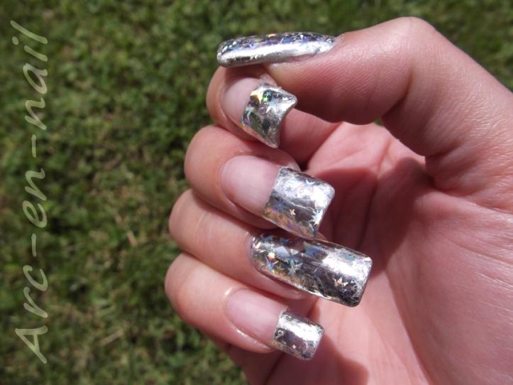 FOIL Silver starburst 3