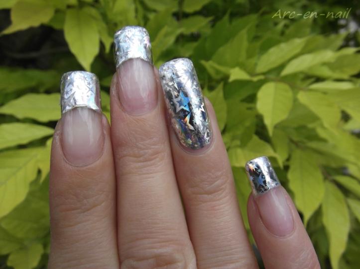 FOIL Silver starburst 5