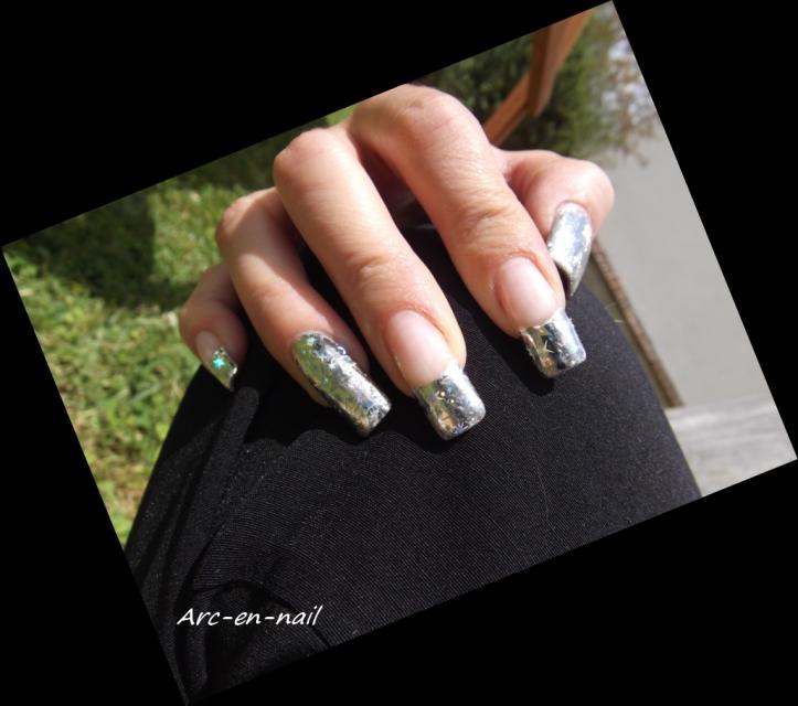 FOIL Silver starburst 6