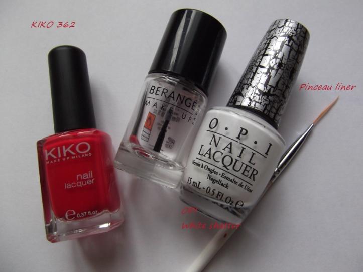 nail art asymétrique matèriel