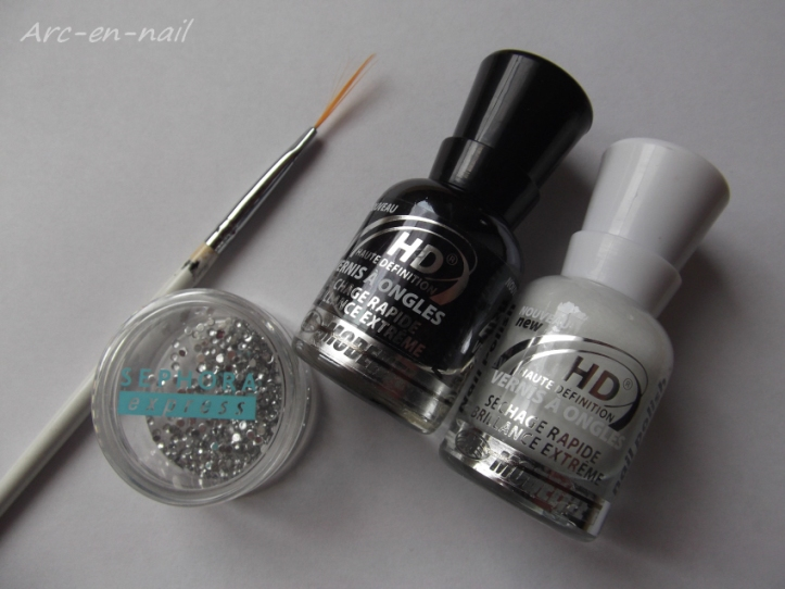 Nail art French zebrée materiel