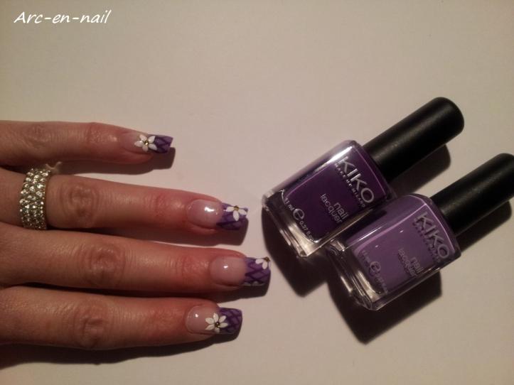Nail art Grillage fleuri 4