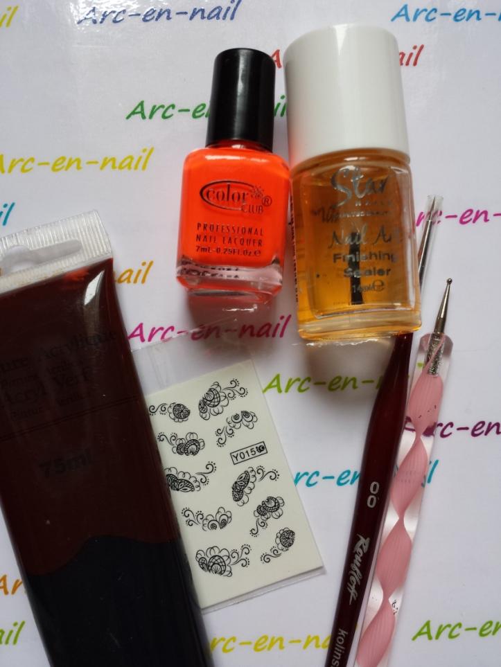 nail art I am flashy matèriel