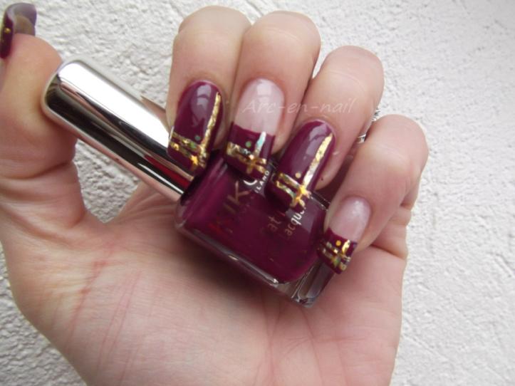 nail art asymetrique & foil 1