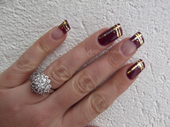 nail art asymetrique & foil 3