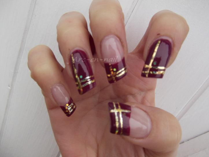 nail art asymetrique & foil 4