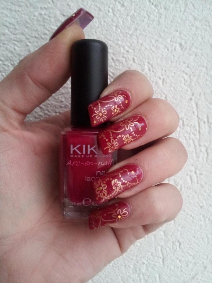 Nail art KIKO 287 & stamping 1