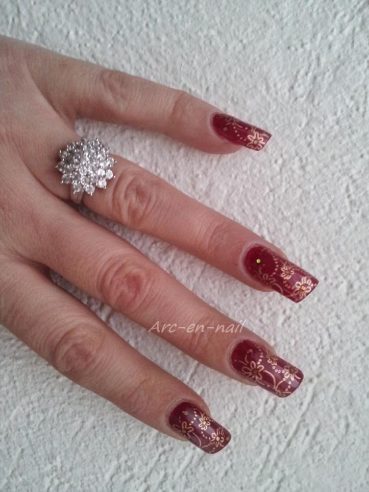 Nail art KIKO 287 & stamping 2