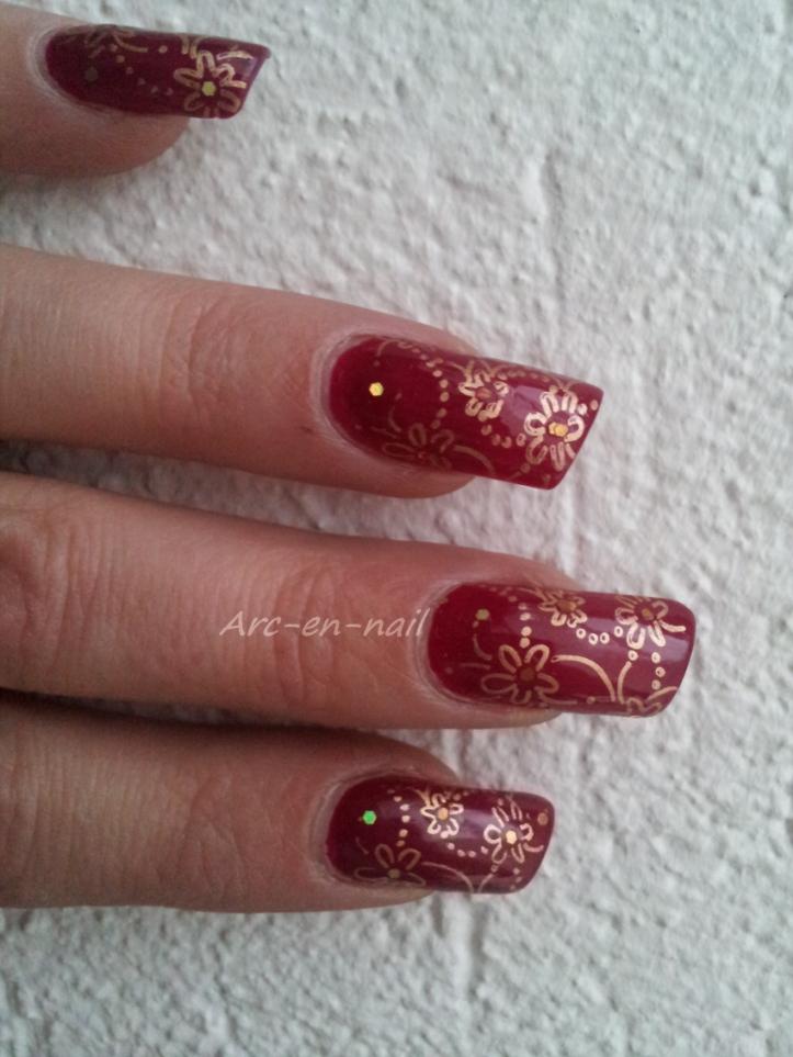 Nail art KIKO 287 & stamping 3