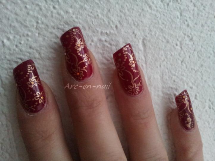 Nail art KIKO 287 & stamping 4