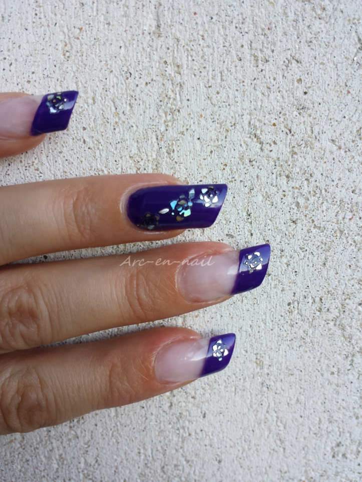 Nail art Purple flowers 5