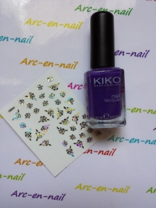 Nail art Purple flowers materiel