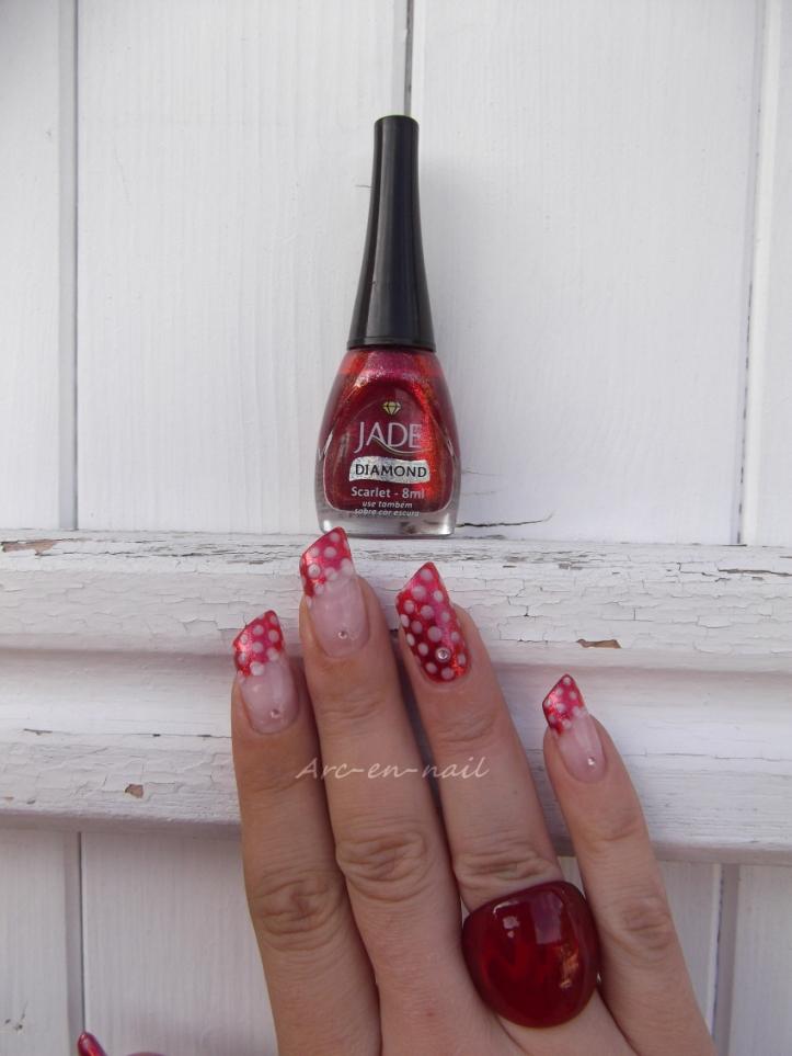 Nail art Minnie 1