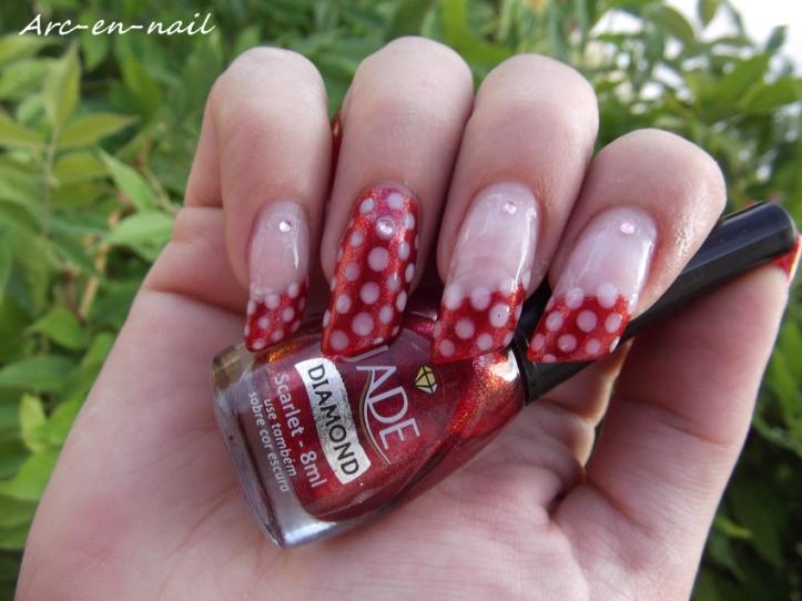 Nail art Minnie 2