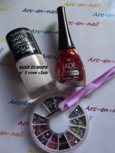 Nail art Minnie materiel