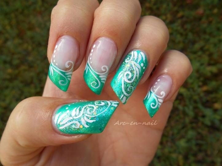 Nail art spirales & verdure 4