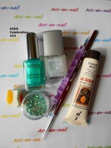 Nail art spirales & verdure materiel