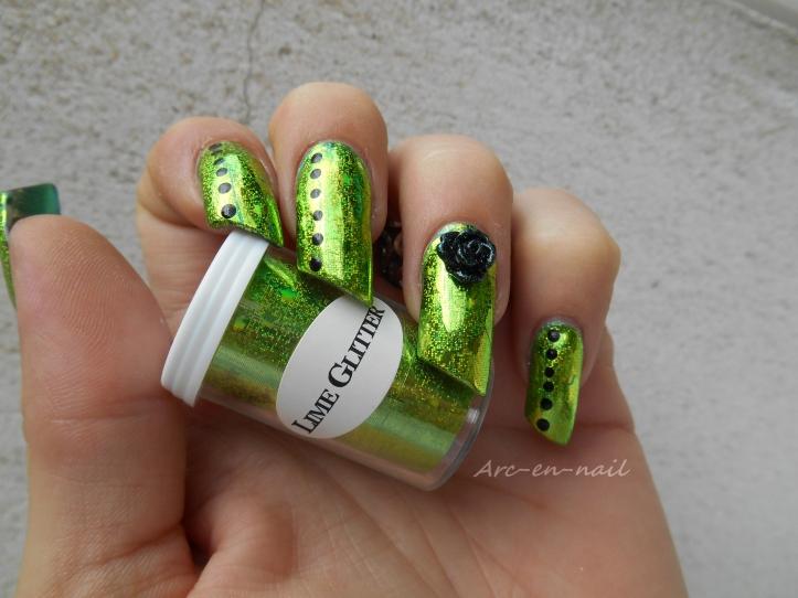 Emerald green & foil 1