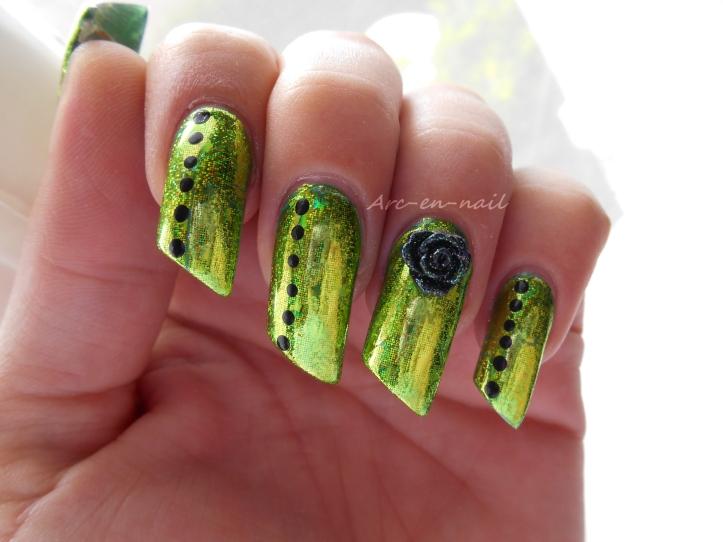 Emerald green & foil 2