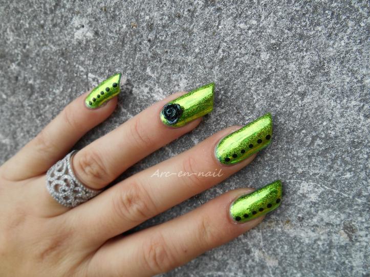 Emerald green & foil 4
