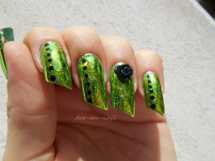 Emerald green & foil 5
