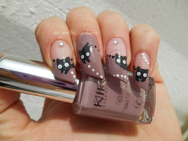 Nail art Chat mignon 2