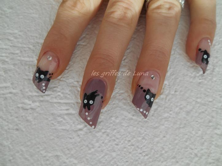 Nail art Chat mignon 3