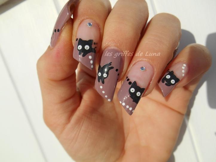 Nail art Chat mignon 4