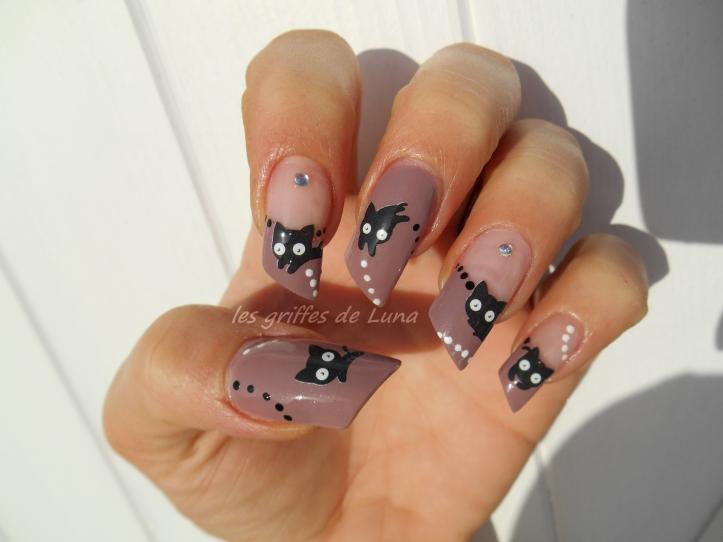 Nail art Chat mignon 5