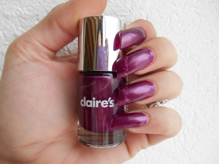 CLAIRE'S Metallic Dark Berry 3