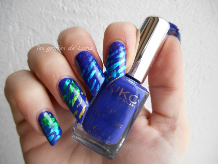 Nail art Beauté bleue 1