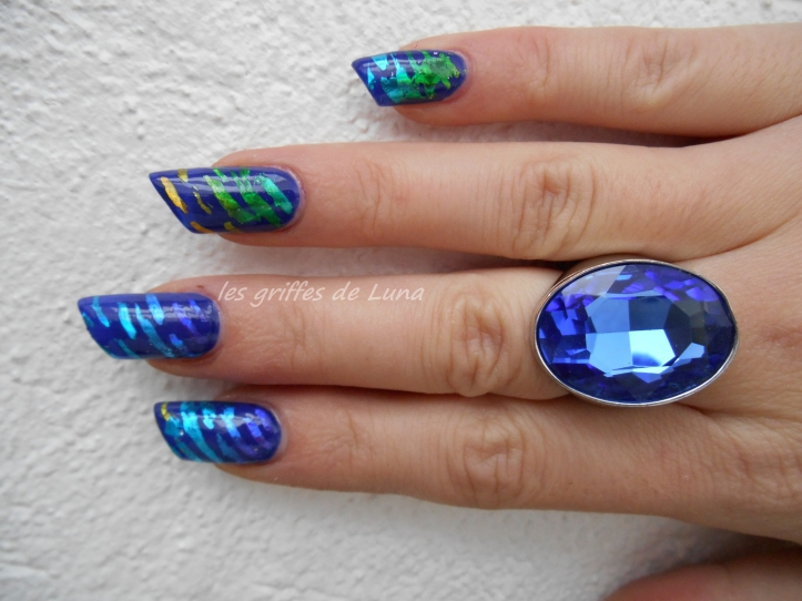 Nail art Beauté bleue 2