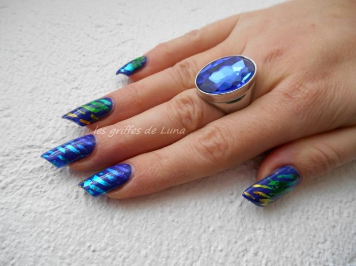 Nail art Beauté bleue 3