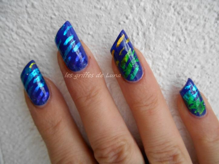 Nail art Beauté bleue 4