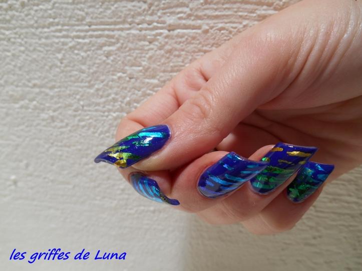 Nail art Beauté bleue 6
