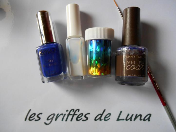 Nail art Beauté bleue materiel