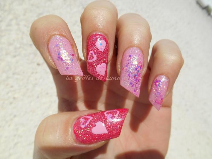 Nail art St Valentin 1