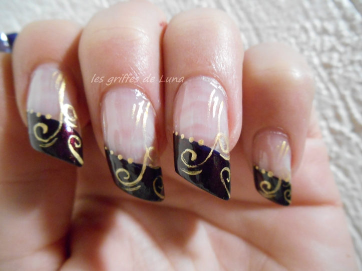 Nail art French d'hiver 4