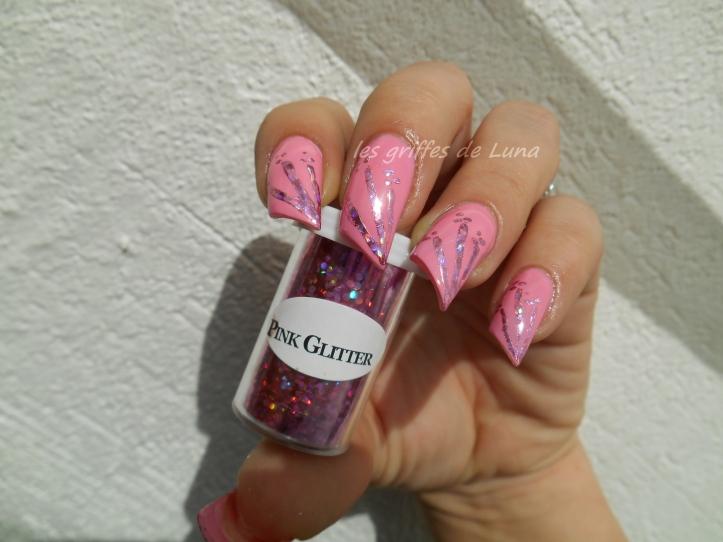 Nail art Glitter touch 1