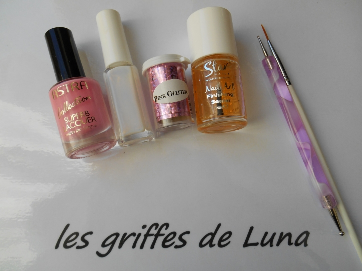 Nail art Glitter touch materiel