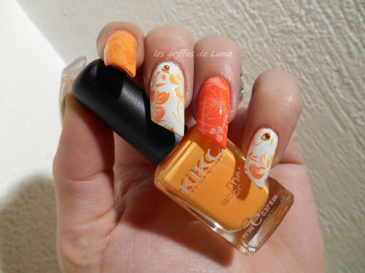 Nail art Orange juice 1