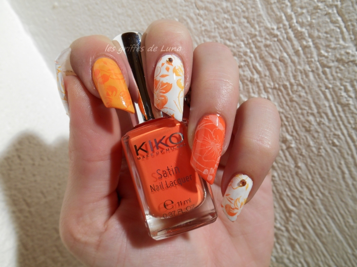 Nail art Orange juice 2
