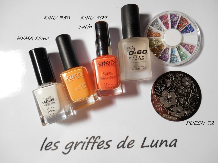 Nail art Orange juice materiel
