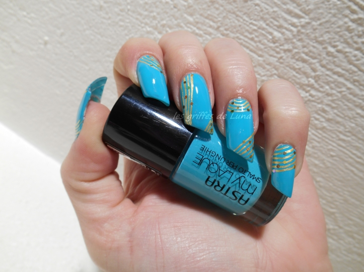 Nail art Turquoise & or 1