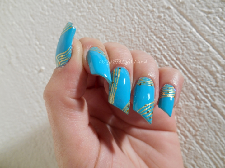 Nail art Turquoise & or 2
