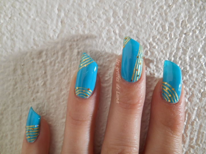 Nail art Turquoise & or 3