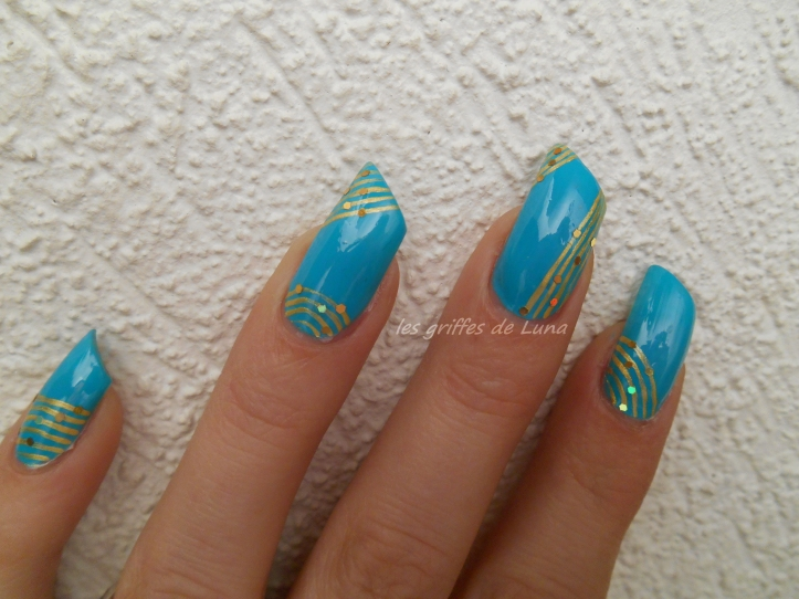 Nail art Turquoise & or 4