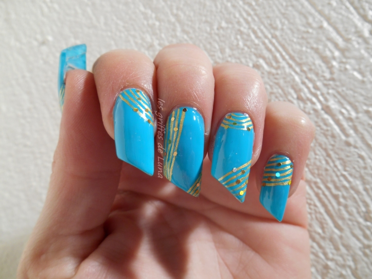 Nail art Turquoise & or 5